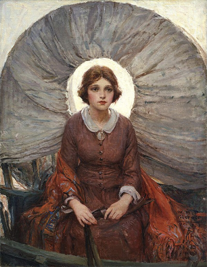 W.H.D Koerner. Madonna of the Prairie. C. 1921-22. Oil on canvas. 94 x 73 cm. Buffalo Bill Center of the West.