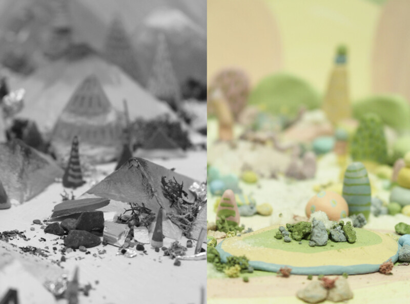 abstract landscape model