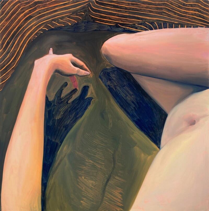 Painting of nude female figure
