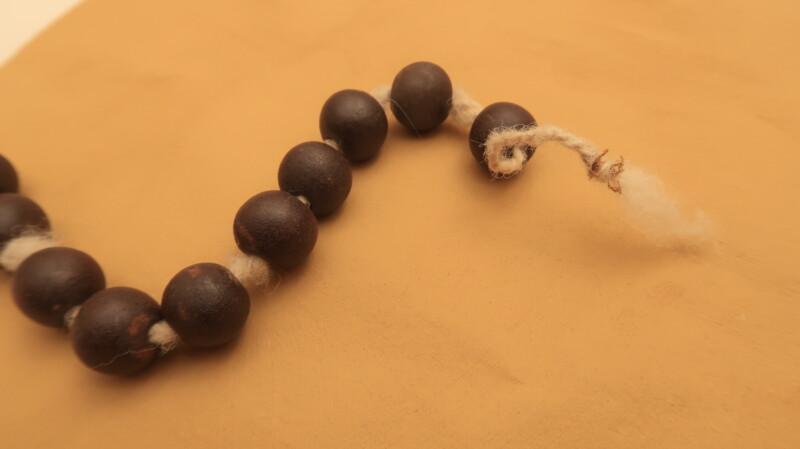 Stringed large beads