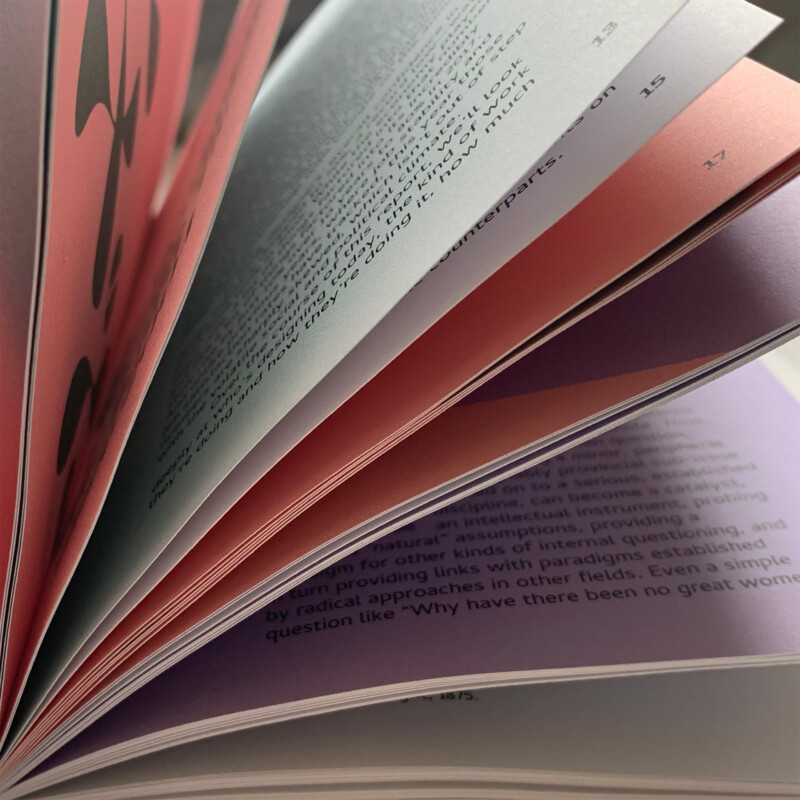 Photo of a book interior, pages turning