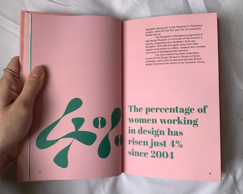 photo of a pink book interior