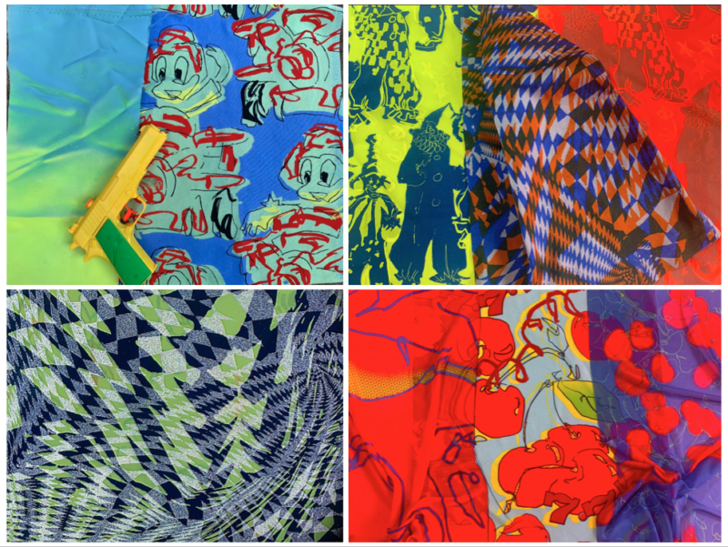 vibrant multi-coloured fabrics