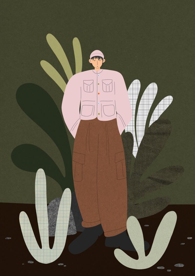 Illustration of person