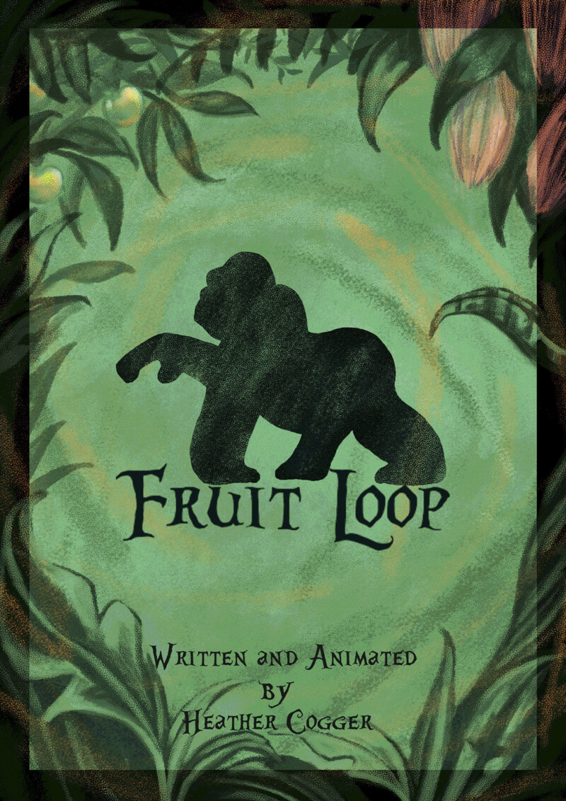 Fruit Loop short cover, a gorilla in a forest frame