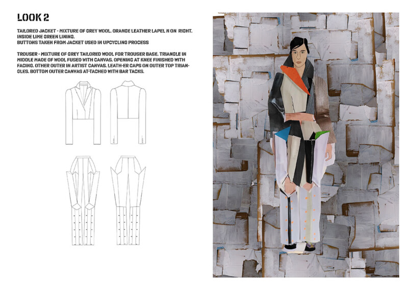 collage concept of patchwork suit