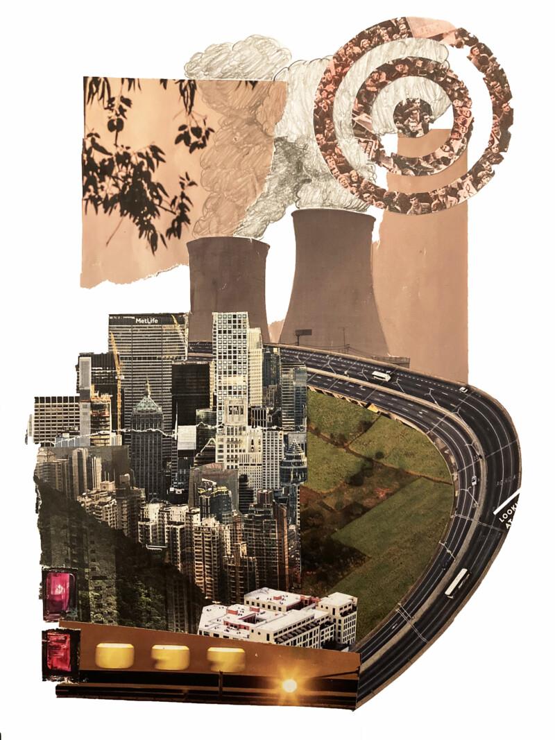 city scape collage