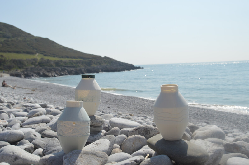 vessels by the sea