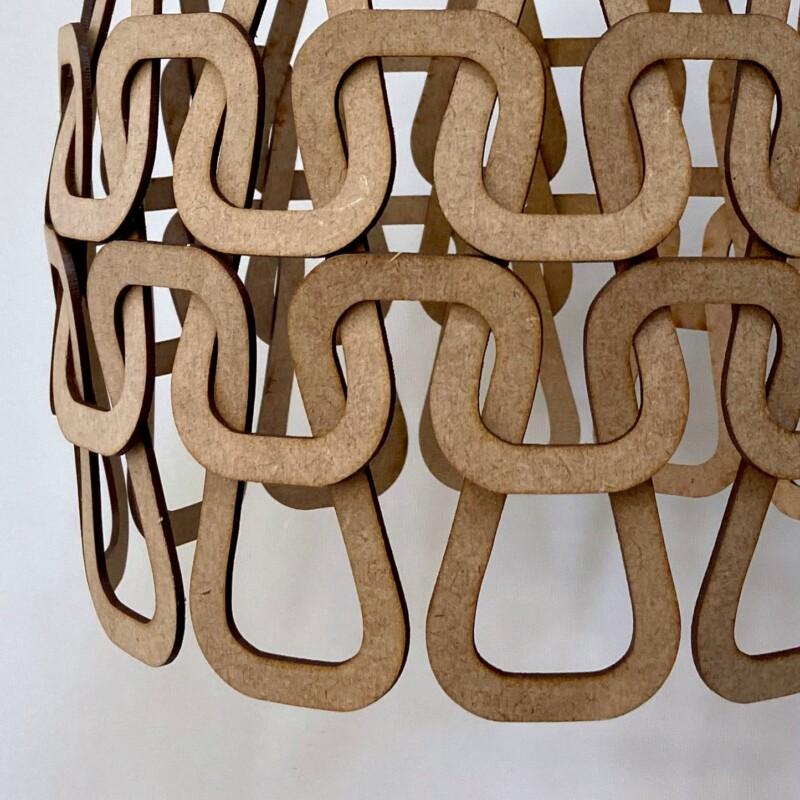 woven wooden lamp