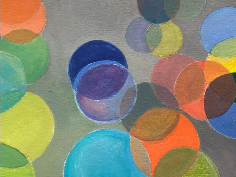 painted multicolour circles