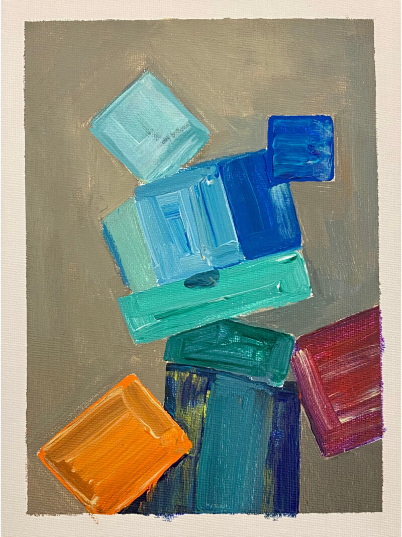 painted blocks of colour